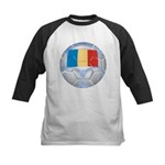 Romania Soccer Kids Baseball Jersey