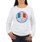 Romania Soccer Women's Long Sleeve T-Shirt