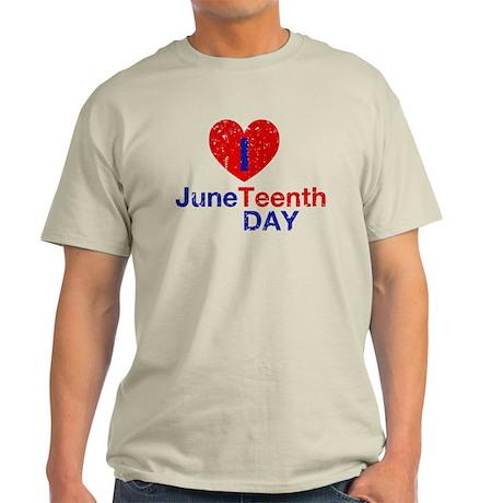 I Heart Juneteenth Day Light T-Shirt