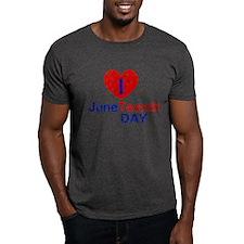 I Heart Juneteenth Day T-Shirt