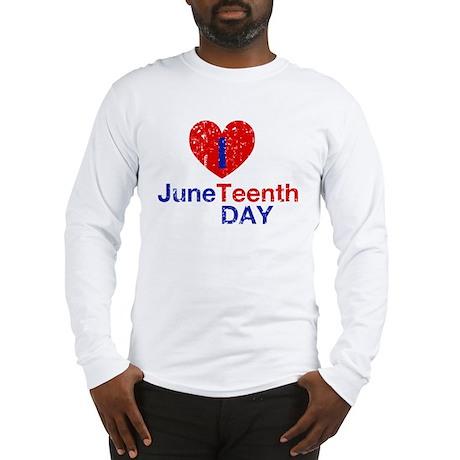 I Heart Juneteenth Day Long Sleeve T-Shirt