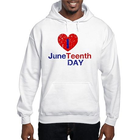 I Heart Juneteenth Day Hooded Sweatshirt