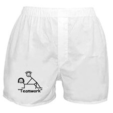 """Teamwork"" Boxer Shorts"
