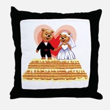 Wedding Teddy's T-shirts and Gifts Throw Pillow