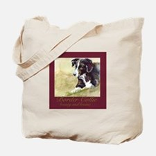 Border Collie Beauty & Brains Tote Bag