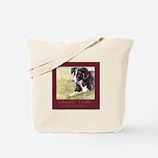 Border Collie Beauty & Brains Tote Bag