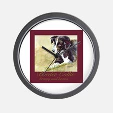 Border Collie Beauty & Brains Wall Clock