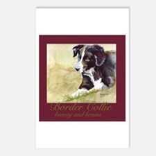 Border Collie Beauty & Brains Postcards (Package o