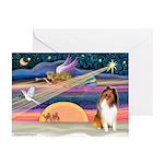 Xmas Magic & Collie Greeting Cards (Pk of 20)