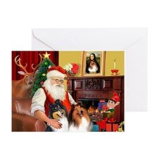 Xmas Magic & Collie Greeting Cards (Pk of 10)