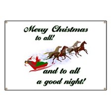 Horsey Christmas Banner