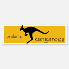 I Brake for Kangaroos Bumper Sticker (10 pk)