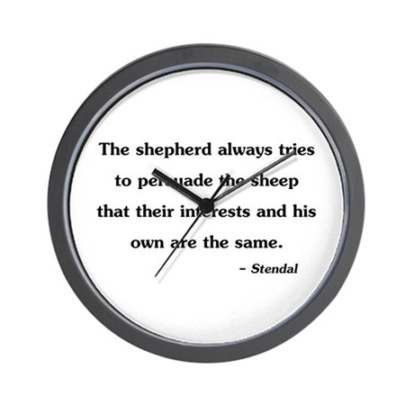 Stendal Quote Wall Clock