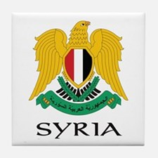 Syria Coat of Arms Tile Coaster