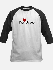 I Love My Binky (Pacifier) Kids Baseball Jersey
