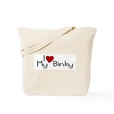 I Love My Binky (Pacifier) Tote Bag