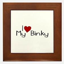 I Love My Binky (Pacifier) Framed Tile