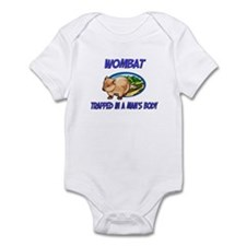 Wombat Trapped In A Man's Body Infant Bodysuit