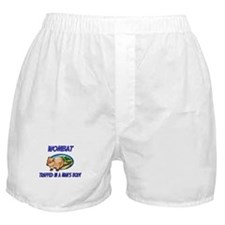 Wombat Trapped In A Man's Body Boxer Shorts