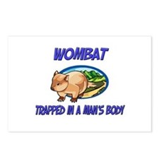 Wombat Trapped In A Man's Body Postcards (Package