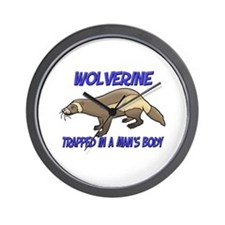 Wolverine Trapped In A Man's Body Wall Clock