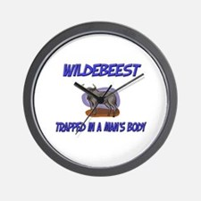 Wildebeest Trapped In A Man's Body Wall Clock