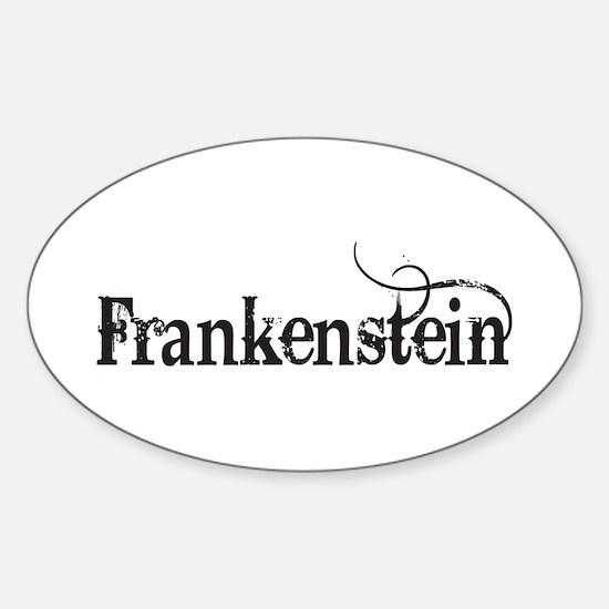 Frankenstein Oval Decal