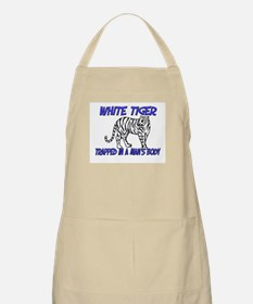 White Tiger Trapped In A Man's Body BBQ Apron