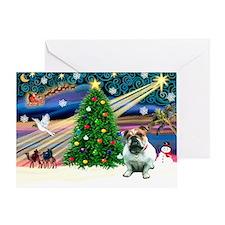 Xmas Magic & Bulldog Greeting Card