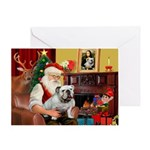 Santa's white EBD Greeting Card