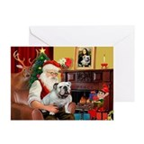 English bulldog christmas Greeting Cards (10 Pack)