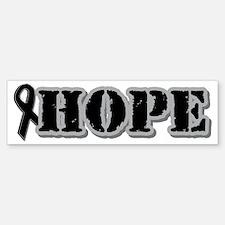 Black Hope Ribbon Bumper Bumper Bumper Sticker