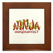 Dragon Ninja Didgeridooist Framed Tile