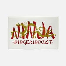 Dragon Ninja Didgeridooist Rectangle Magnet