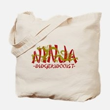 Dragon Ninja Didgeridooist Tote Bag