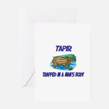Tapir Trapped In A Man's Body Greeting Cards (Pk o