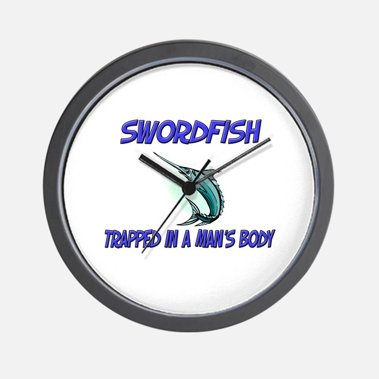 Swordfish Trapped In A Man's Body Wall Clock