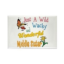 Wild Wacky Middle Sister Rectangle Magnet