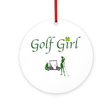 Lucky Golf Girl - Ornament (Round)