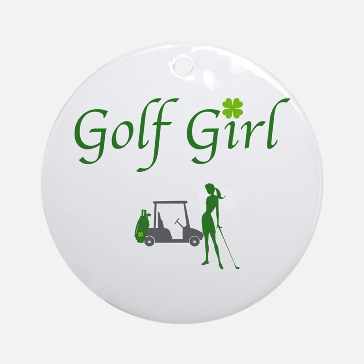 Lucky Golf Girl - Ornament (Round)