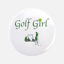 """Lucky Golf Girl - 3.5"""" Button"""
