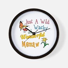 Wild Wacky Memaw Wall Clock