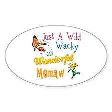 Wild Wacky Memaw Oval Decal