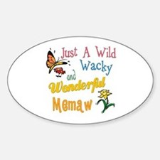 Wild Wacky Memaw Oval Decal