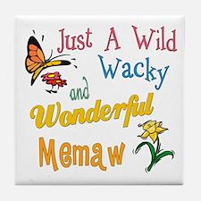 Wild Wacky Memaw Tile Coaster