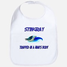 Stingray Trapped In A Man's Body Bib
