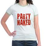 Party Naked! Jr. Ringer T-Shirt