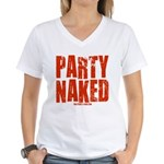 Party Naked! Women's V-Neck T-Shirt