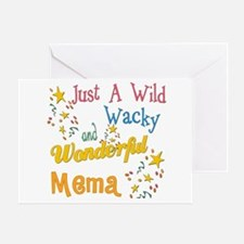 Wild Wacky Mema Greeting Card