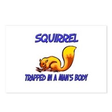 Squirrel Trapped In A Man's Body Postcards (Packag